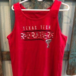 Red Comfort Colors Texas Tech tank top!